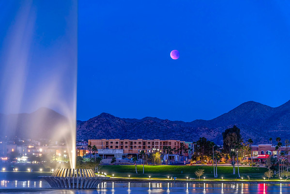 013118-Eclipsed blood blue full moon over Fountain Hills