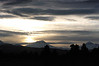 Sunset behind South Sister.
