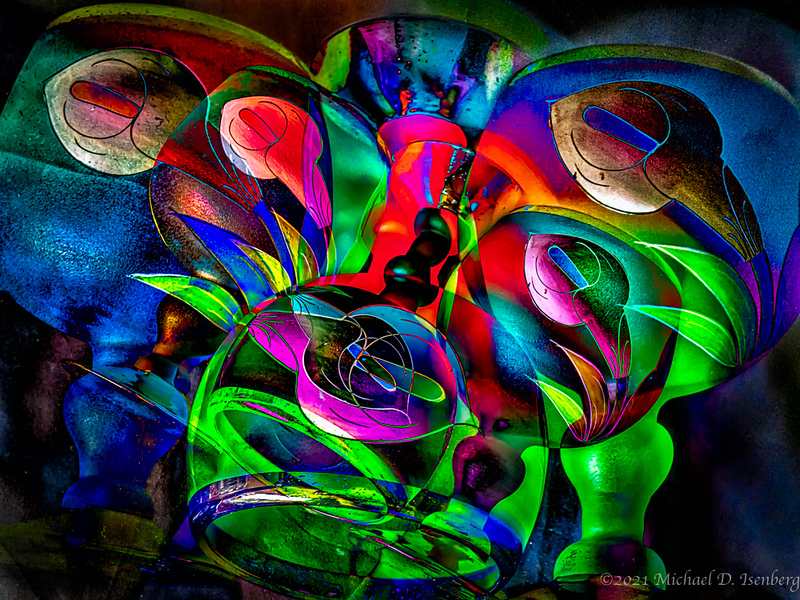 GLASS ABSTRACT -13
