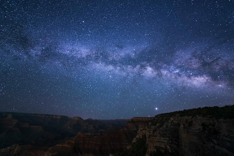 Milky Way over Yavapai Point, GC
