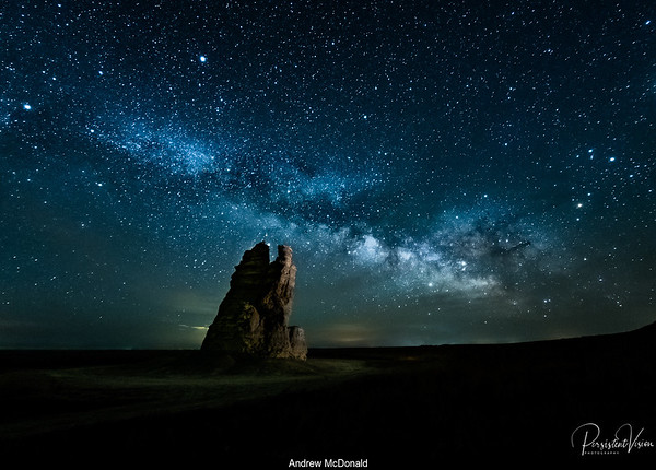 Castle Rock and Milky Way