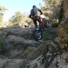 """""""Greg Okert 'trail riding' on a trials bike in the Southern California mountains."""" - Photo by Brent Parks of Morongo Valley, Calif."""