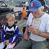 """""""Here is my son, Clarke Morian V (yes he is the 5th and granddad is the 3rd), sitting with his granddad at Lawrenceburg speedway between races. C5, as we call him, began racing this year and has loved it so much he never shuts up about it."""" - Clarke Morian IV of Cincinnati."""
