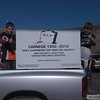 """""""Hunter and Zack supporting to keep Carnagie (Calif. track) open."""" Shelby Graham of Tracy, Calif."""