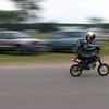 """""""Aaron Colton heading for the checkered flag at the CRA's annual pitbike race."""" - James Dunleap of New Hope, Minn."""