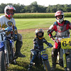 """""""Me ( #64T), my son, Theo, and Goodie Goodman (#11x) at a practice TT track."""" - Guy Storrs of Williamson, N.Y."""