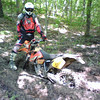 """""""A a pic I took of a friend of mine, Reggie Wrinkle, stuck on Aetna Mountain here just outside of Chattanooga, Tenn. Reggie and I regularly race in hare scrambles in the south and were out practicing when I caught him buried!"""" - Mark Moon of Chattanooga, Tenn."""