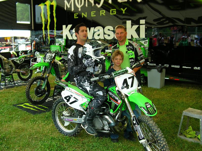 Jeff Emig sitting on my bike, me, and my nephew, Koty Kedik. - Robert Kedik of South Bend , Ind.