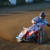 """""""Racing from Mid America Speedway, Indianapolis, Marion County Fairgrounds 8-27-10. Wesley Oskiewicz"""". - Kurt Bauer."""