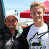 """(L-R: John Hopkins and Chaz Davies pictured) """"Friends and family converged on Streets of Willow Raceway in Rosamond, Calif., for an Alpinestars 'Day at the Track.' David Kennedy and Atom Willard from the band Angels & Airwaves, John Hensley from TV's Nip/Tuck, Chris Killmore from Incubus, Tim Kang from TV's The Mentalist and Roland Sands were among the friends that came out to take on the technical track at Streets of Willow. Whether it was blasting up the front straight or taking on the bowl in turn 8, everyone was out to enjoy a great day of riding. Of course, what event wouldn't be complete without some of Alpinestars' finest joining in the mix. John Hopkins and Chaz Davies stopped by to cheer on our guests, while up-and-coming Supercross star Max Anstie got in on some Streets of Willow fun."""" - Alpinestars"""