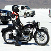 """""""Colorado Springs, Colo.-based Team """"Carpe Diem"""" has set a new land speed record in the 650cc Production Vintage (pre-1956 stock motorcycle) class at the Bonneville Salt Flats in Utah at the internationally attended """"Speed Week."""" This record was set on a stock 1954 BSA A-10 """"Golden Flash"""" averaging two runs over two days on a three-mile track on the salt lake bed."""""""
