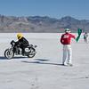 Michael Cole at the  Bonneville Salt Flats in Utah, 2009. - Michael Cole, of Traverse City, Mich.
