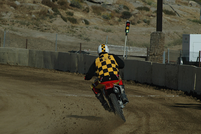 """""""My Dad was president of the Lions Club back in the 60's. I just turned 52 and was raised with all the members who were and still are bigger than life to this young boy who was incredibly fortunate to watch and be a part of this era. The Lions Club and their weekend races of Flat Track, TT, Desert and motocross are long gone, thus the pictures attached for your hopeful consideration. I was too young to be a member myself, so in honor of my Dad and all the men who wore the jersey's and painted helmets of the 60's; I surprised my Dad at a local short track in Perris Ca. (SCFTA) sanctioned event and instead of us watching these races, I pulled up to the line, (knobbie division) with all the old gear and threw the bike around for a 2nd place finish. Fans and riders couldn't believe that the Lions MC San Diego Club was still around! We'll the club is gone, but for this day and for a Father and Son, it was gift and an honor that I've dreamed about for my Dad and all the men who wore the colors."""" - Dave Otey of Lake Arrowhead, Calif."""