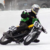 """""""ice racing in Michigan. Alex Allen enroute to another district championship vintage class and 2007 AMA Amateur National Ice Race Championship 50+ class."""""""
