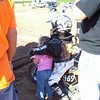 """""""This is a photo of our son, Oliver, 5, with his little sister, Anna, 2, at the start gate of a local MX race."""" - Keith Green of Crawfordville,Fla."""
