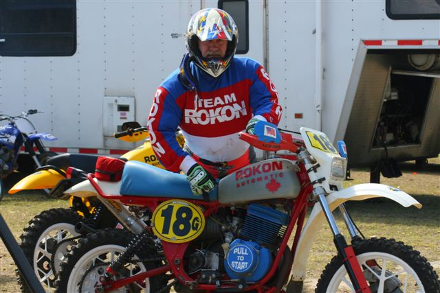 """Same bike, same rider at Gatorback for the last 34 years. Proud AMA Life Member."" - Michael Murphy of Callao,Va."
