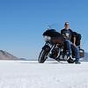 John Bolkema at Speed Week at the Bonneville Salt Flats in Utah, 2009.