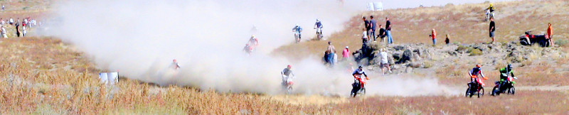 """""""Destry Abbott out in front, Drew Pearson on his tail. Wendover 100, 2009."""" Jeff Frost of St. George, Utah."""