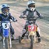 Bryant Bernard and Carlo Pulido at Lake Elsinore (Calif.) MX Pee Wee track Jan. 9, 2010.