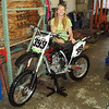 """""""My name is Rachel Combs. I am 11 years old. I would like to be in your magazine, I race a Honda 150 in the 8-to-12-year-old class in Southern California. This photo is taken at Glen Helen raceway. I won that race!. I am a girl but I only race in the boys class. My goal is to compete at a national AMA level in the men's class and be a front runner!!!"""" - Rachel Lee Combs of Corona Calif."""