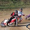 """Racing from Mid America Speedway, Indianapolis, Marion County Fairgrounds, 8-27-10. Front: BJ Fesselmeyer/ Wesley Oskiewicz/ Joe Garrison. - Kurt Bauer."