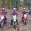 """""""My two sons, Ian and Justin, and their new friend, Austin, at the 2009 Meriden Motorcycle Club Pee Wee hare scrambles in Connecticut. All three boys trophied  Halloween Day."""" - Jim Morse of Nashua, N.H."""