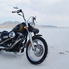A shot that I took of my bike at Bonneville while I was there for the BUB speed trials. - Ray Benitez of Winnemucca, Nev.