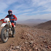 """""""AMA Hall of Fame member Ed Waldheim, southeast of Ridgecrest, Calif., coming up off the desert floor back into the mountains.  This was a dual-sport ride on Jan. 30-31, 2010."""" - Chris Waldheim of Glendale, Calif."""