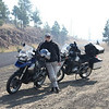 Mike Taylor assessing the danger of wild fires, Oregon.  (2 Old Geezers on Beemers Tour.) - Submitted by David Teter.