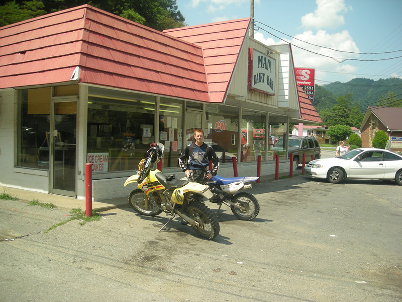 """""""I think riding through the woods all day and then riding into town for a hot fudge Sunday is about as cool as you can get! Hatfield McCoy vacation July 2009."""" - Jim and Shane O'Keefe of Ridgefield Park, N.J."""