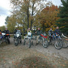 """""""Members of the BMW touring club on their annual color tour at Cycle-Moore campground in Interlochen, Mich.""""- Jack J. Johnson of South Lyon, Mich."""
