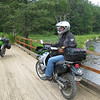 """""""Photo of Jim Eiben on his KLR 650 (mine in the background) taken while riding in the Allegheny National Forest outside of Marienville, Pa."""" - Gary Floss of Pittsburgh."""