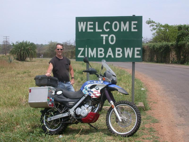 John Shelton, while riding around Southern Africa.