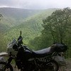 My KLR in the North Carolina mountains. - Allen Goodwin