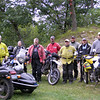 "A group of my motorcycle friends did a ride over the five days (8-26-09 thru 8-31-09) on a route through Wisconsin called the TransWisconsin Adventure Trail. It runs from Dubuque, Iowa to Cornucopia, Wis., on Lake Superior, north of Bayfield. About 540 miles in total, roughly half of it was on paved rural roads. The rest ranged from country gravel to fire service roads to ATV trails and goat paths. A few times the road was closed or the bridge missing, but that didn't always stop us. We had two sidecar rigs in the group, a Buell/Velorex rig nicknamed the the Battle Buell, and my Ural Tourist. Both machines handled the trail at least as well as the two-wheeled machines.  It was a great trip with great friends. From left to right, the picture includes- Mike Etlicher, Kevin Kocur, Gus Breiland, Kevin Wynn, Marty Leir, Will Outlaw, Howard Stueber and Victor Wanchena."" - Kevin Wynn of Minneapolis."