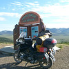 """""""The photo at the Arctic Circle was taken the day before the photos in the mud.  It had rained all night while I was in Inuvik, and the return trip to my first stop in Eagle Plains, Yukon, took approximately 12 hours, covering a distance of only about 225 miles."""" - Pete Migli of South Miami, Fla."""