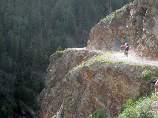 """""""This is a photo of us riding on a road east of Ouray, Colo."""" - Brian Smith of Neptune, N.J."""