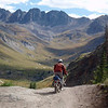 """""""I thought this was a pretty good shot of me on my 1988 R100GS just topping out on Cinnamon Pass looking into American Basin in the San Juan Mountains of SW Colorado. Photo by Milan Hasse, September 2010."""" - Nick Greear of Cedaredge, Colo."""