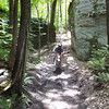 """""""This shot is me riding in the Pennsylvania Alleghany National Forest on the Rocky Gap Trail system. Really beautiful trail and super-nice riding."""" - Rob Hayes of St Marys, Penn."""