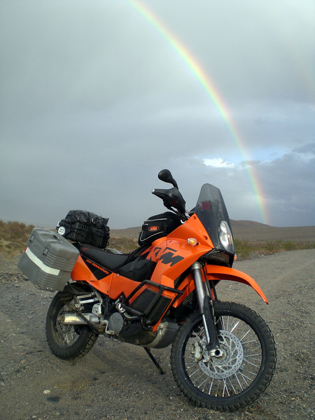 Taken in Death Valley during a big storm that eventually trapped us at Stove Pipe Wells for two days. - Ken Blasor