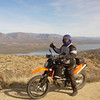 """Dual-sport riding east of Four Peaks, Ariz., withTheodore Roosevelt Lake in the background. Photo is of Mark Zessin on a KTM 690 Enduro owned by photographer Tony Masi."" - Mark Zessin of North Aurora, Ill. IL. 60542."