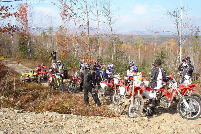 """John Araujo and friends in Berlin, N.H. Araujo and his friends are from southeastern Massachusetts and """"we like to travel all over finding new trails,"""" he says."""