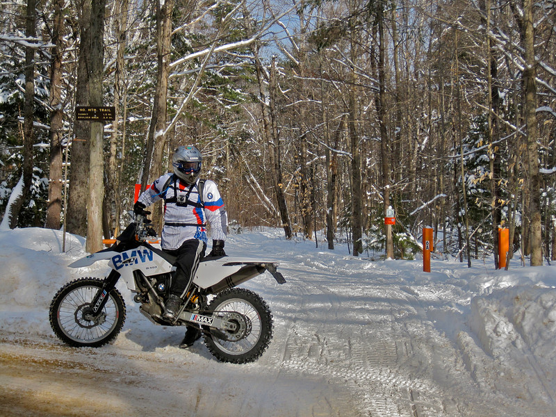 """""""This is Joe Warner on a recent trail ride in New Hampshire.  We love to ride in the state parks (permitted riding, of course)."""" - Andrew Phillips of Goffstown, N.H."""