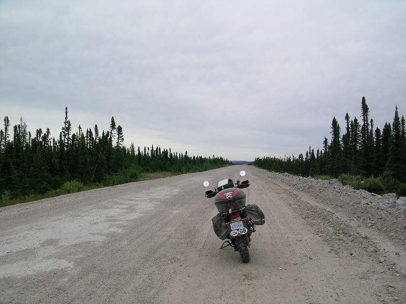 """""""A photo from my trip across the Trans-Labrador Highway this past August, on a 2006 Triumph Scrambler. About 1,000 kilometers of gravel roads in two days as part of a 6,500-kilometer round trip. - David Guthrie of Anherstburg, Ontario, Canada"""