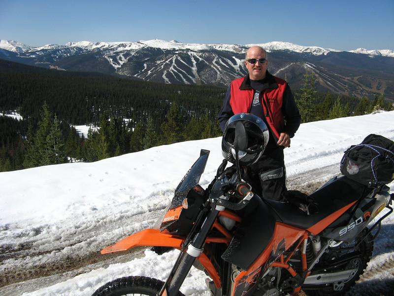 """Steve Bergman, taking a break at the top of the world in Western Colorado."" - Carol Bergman of Grand Junction,  Colo."