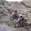 """""""The Trail of Thunder, as two KTM 950 dice it up for the highly coveted position of 'Trail Leader.' Dual-sporting Extra-Large style in the Southern California mountains."""" - Brent Parks of Morongo Valley, Calif."""
