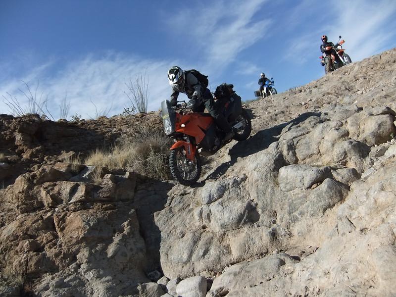 Tim Hilslamer riding his KTM 990 Adventure on an extreme adventure ride near Superior, Ariz. - Terry Zechman of Glendale, Ariz.