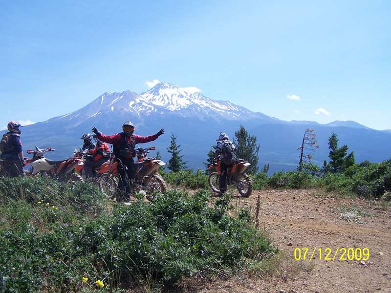 NorCal Dual Sport's KTM National Dual Sport Ride held<br /> July 11-12, 2009 at the Mount Shasta Ski Park in McCloud, Northern<br /> California. Photo by Russel Smith