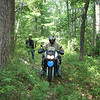 Robert Hall on a trail in northern Pennsylvania on a 2008 Kawasaki KLR650. - Robert Hall of Browns Mills, N.J.