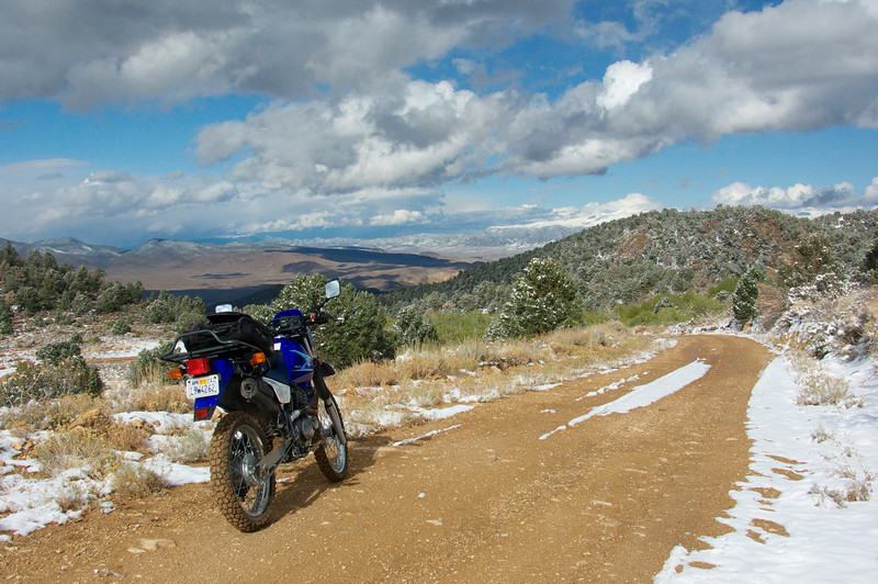 """""""The eastern side of the Sierra Nevada Mountains near the little town of Bridgeport, Calif.  I love bouncing around on mining roads with my little 200cc Suzuki DR dual sport looking for interesting places to photograph."""" - John Mellquist of Napa, Calif."""